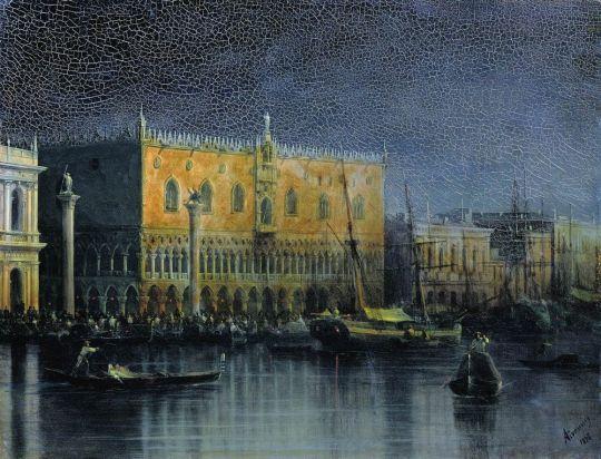 Дворец дожей в Венеции при луне
