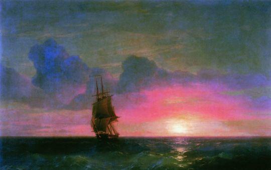 Закат солнца у крымских берегов