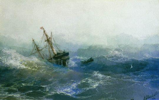Кораблекрушение у скал