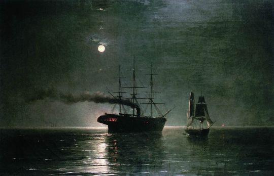 Корабли в ночной тишине