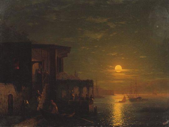 Лунная ночь в Константинополе