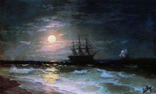 Лунная ночь на Черном море