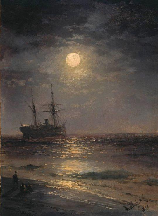 Лунная ночь у взморья