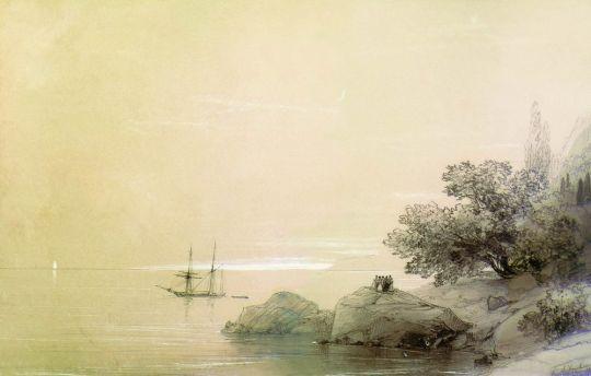 Море на фоне гор