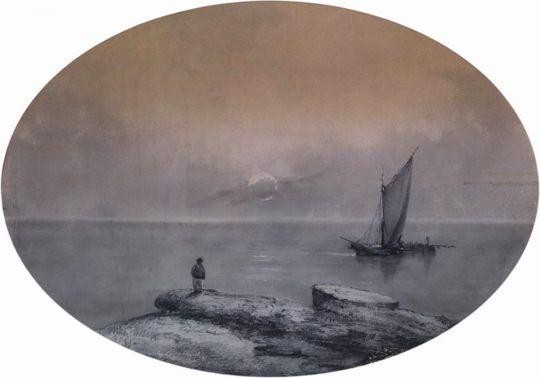 На морском берегу