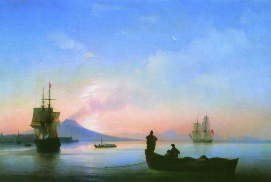 Неаполитанский залив ночью