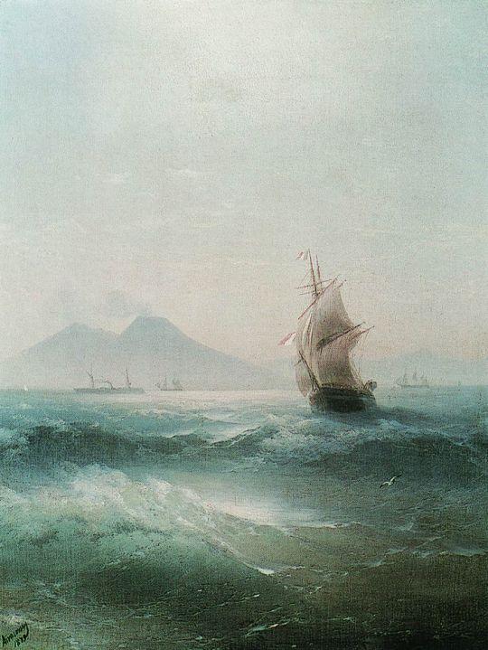Неаполитанский залив. Вид Везувия