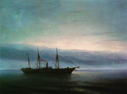 Перед боем. Корабль Константин