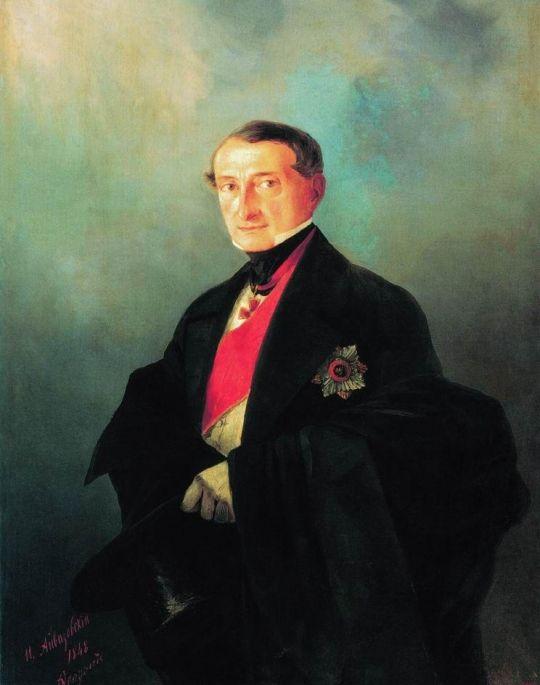 Портрет сенатора Александра Ивановича Казначеева (1788-1880), предводителя дворянства Таврической губернии