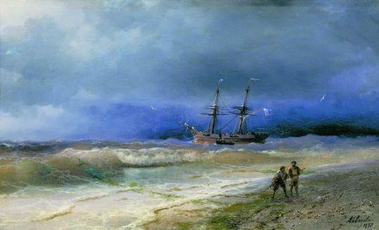 Прибой у берегов Крыма