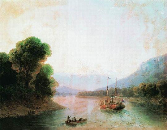 Река Риони. Грузия