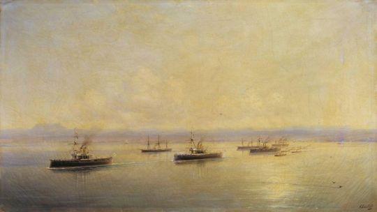 Флот в виду Севастополя