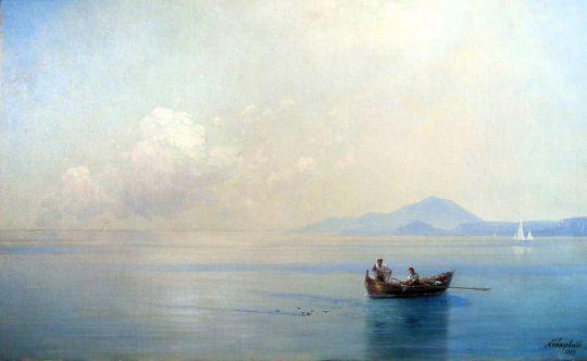 Штиль. Морской пейзаж с рыбаками