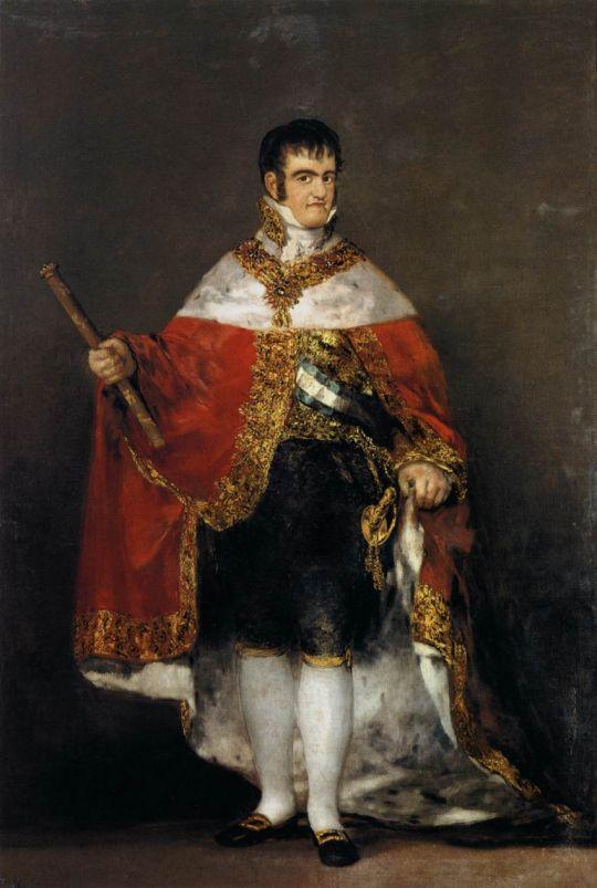 Король Фердинанд VII в королевской мантии