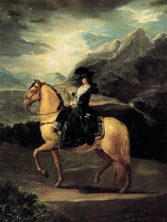 Портрет Марии Терезы де Велабриджа на коне