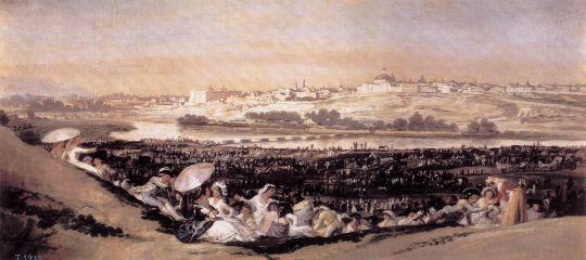 Луг Сан Исидро во время праздника