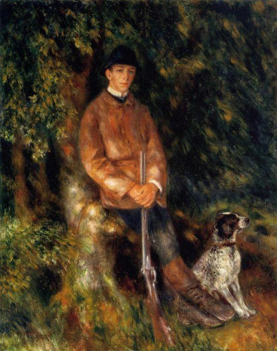 Альфред Берар и его собака