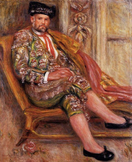 Амбруаз Воллар, одетый как тореадор