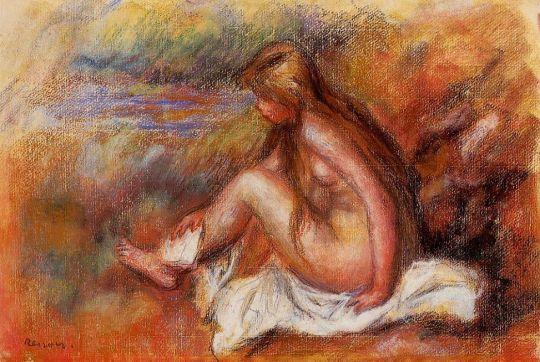 Купальщица, сидящая у моря