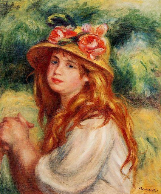 Блондинка в соломенной шляпе (также известная как Сидящая девушка)