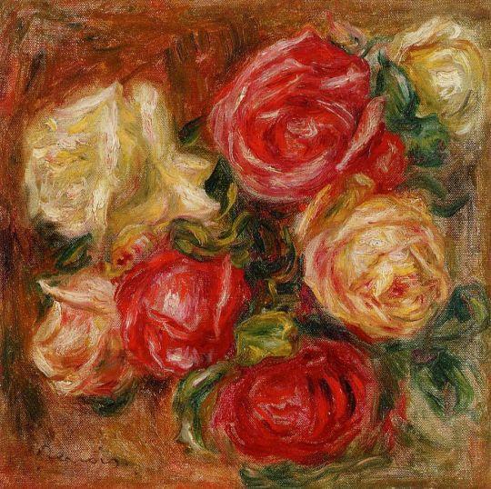 Букет цветов в глиняном кувшине