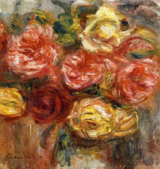 Букет роз в зеленой вазе