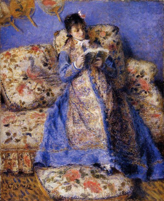 Камиль Моне за чтением
