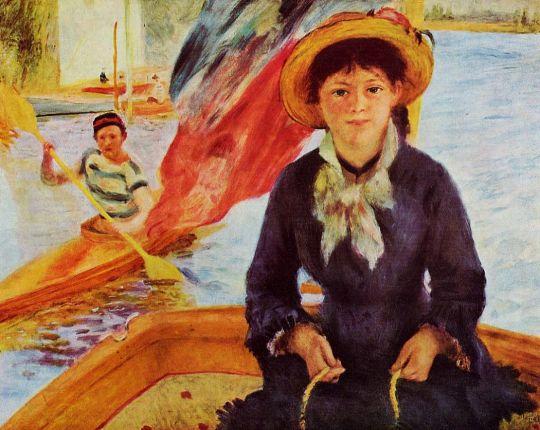 Каноэ (также известная как Девушка в лодке)