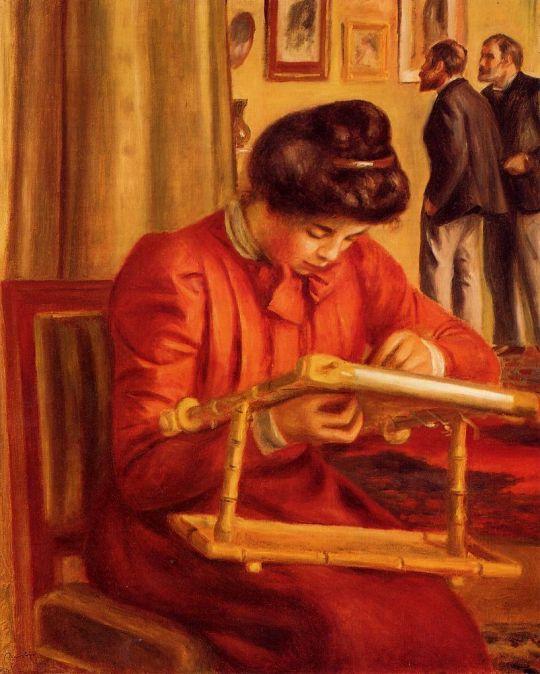 Вышивающая Кристин Леролль