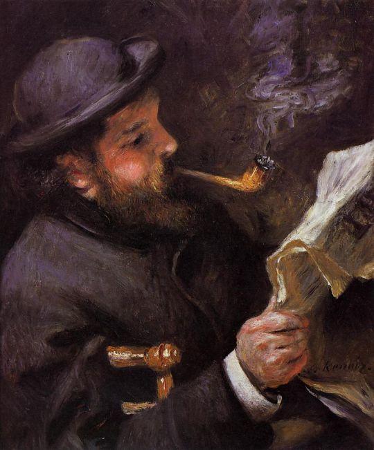 Читающий Клод Моне