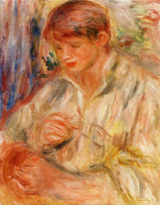 Клод Ренуар Играет с пластинками домино