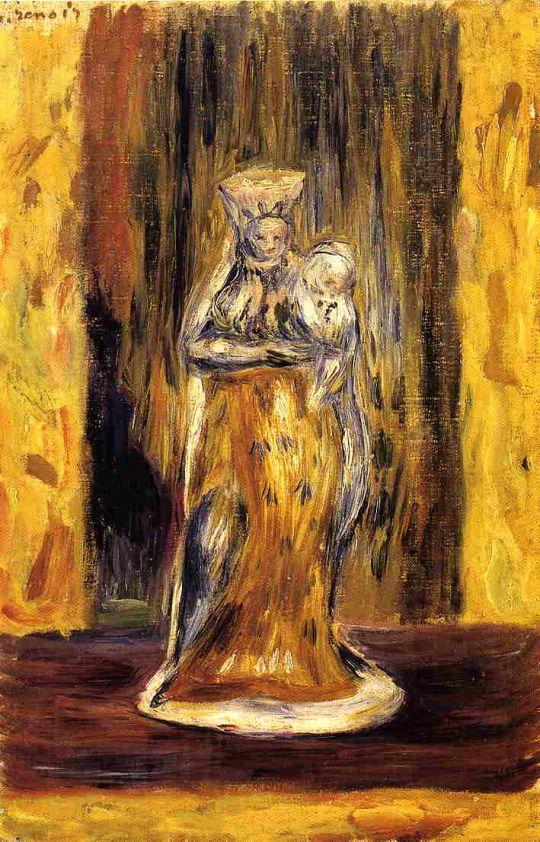 Глиняная Мадонна и младенец