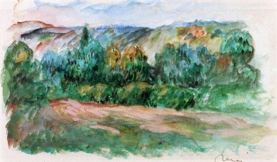 Пейзаж в Эссуа - Прачка и купающиеся