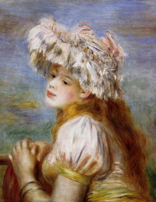 Девочка в кружевной шляпе