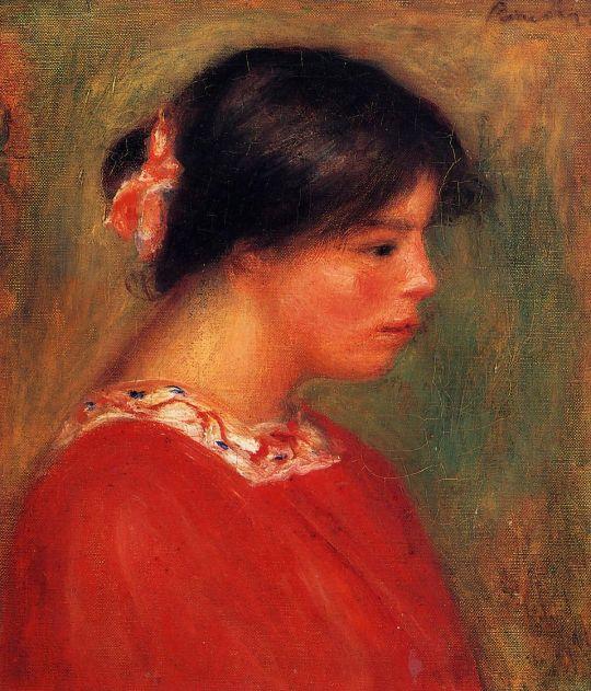 Голова женщины в красном