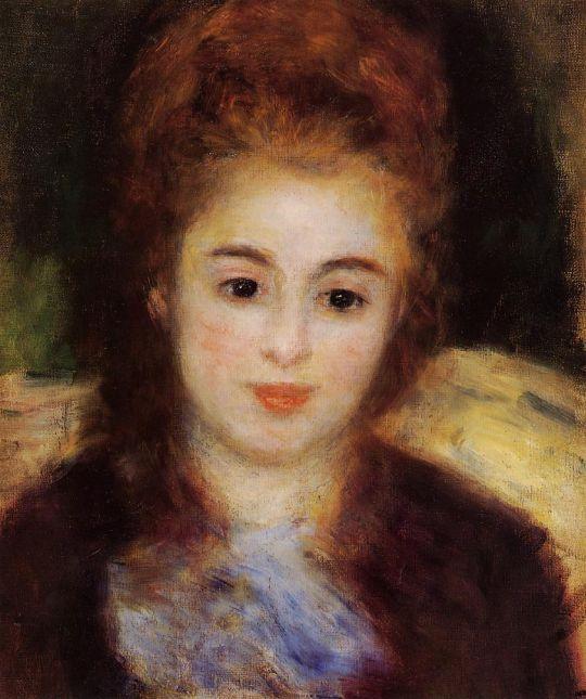 Голова девушкив синем шарфе (также известная как Мадам Анрио)