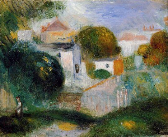 Дома среди деревьев
