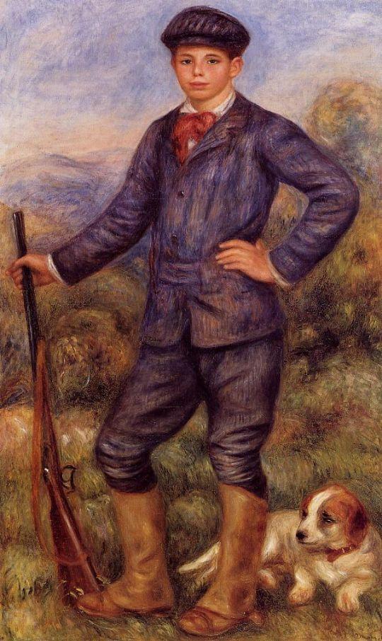 Жан Ренуар в роли охотника