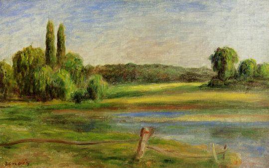 Пейзаж с оградой