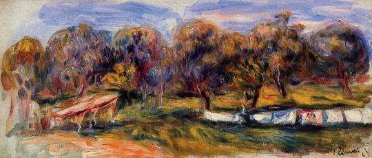 Пейзаж с фруктовым садом