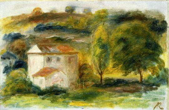 Пейзаж с белым домом