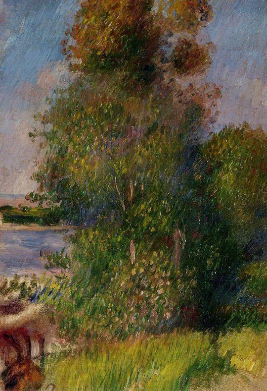 Тропинка в лесу, женщина с ребенком на руках