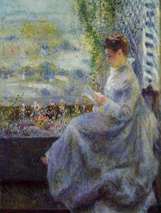 Мадам Шоке за чтением