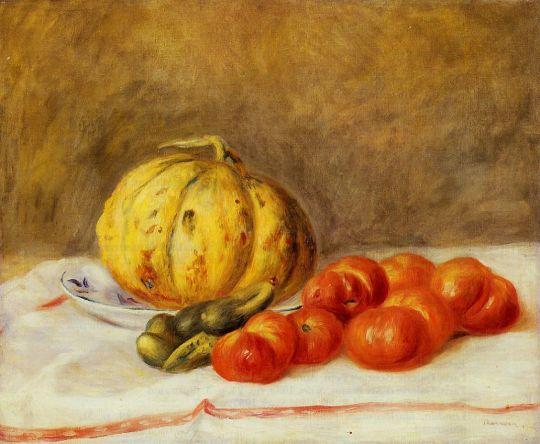 Дыня и помидоры