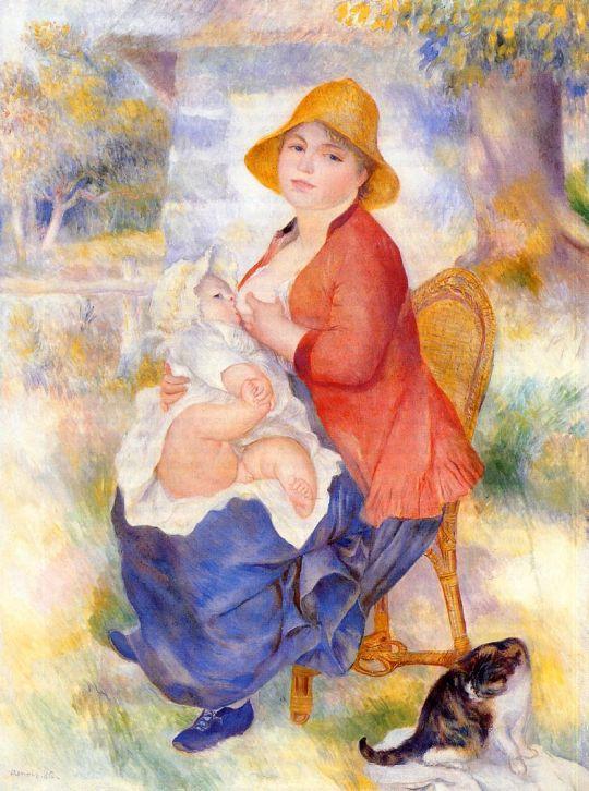 Материнство (также известная как Женщина, кормящая ребенка грудью)