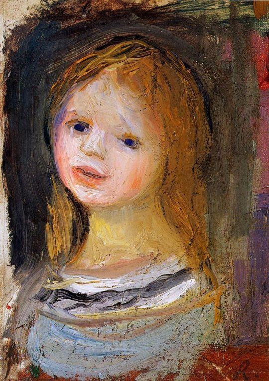 Портрет женщины с волосами, убранными в пучок
