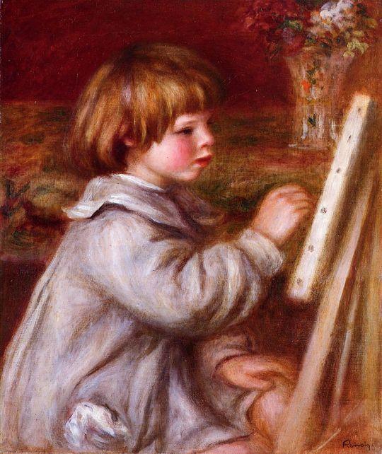 Портрет рисующего Клода Ренуара