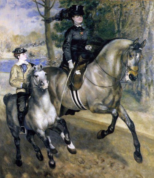 1Верховая езда в Булонском лесу (также известная как Мадам Генриетта Дарра или Верховая езда)