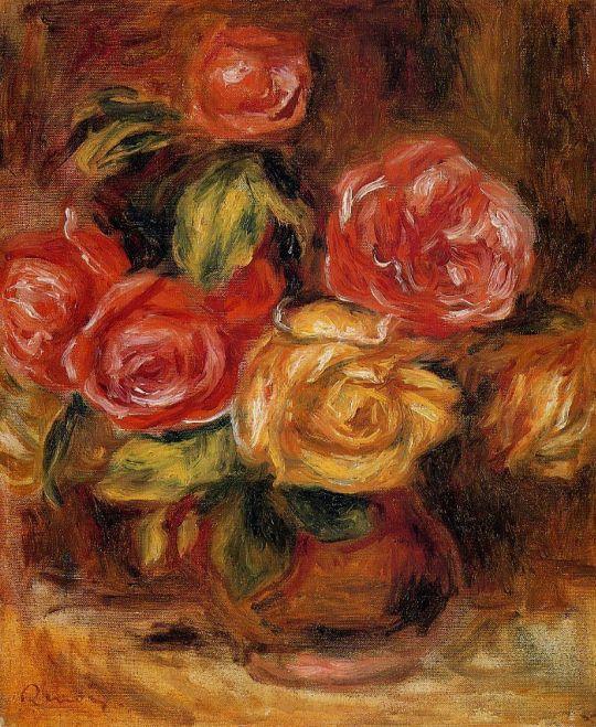 Розы в вазе