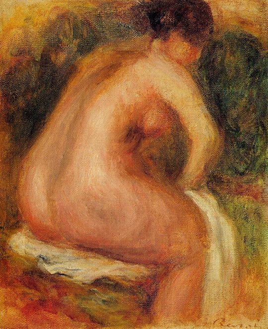 Сидящая обнажённая женщина